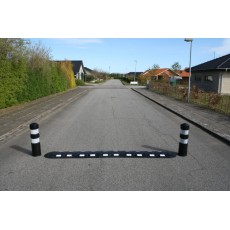 Vejbump 20 km/t 340 cm sort m/2 pullerter Ø20