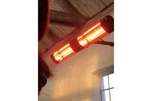 TDJ Horseheater - Dobbelt varmelampe 2x1500 Watt