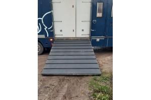 Rampemåtte hestetransport 2x 120x240 - incl. 12 stk lim