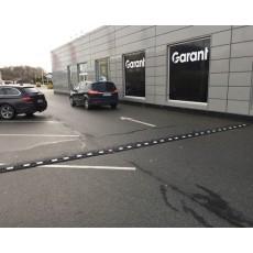 Vejbump 20 km/t Typegodkendt Ny gummi 490 cm sort